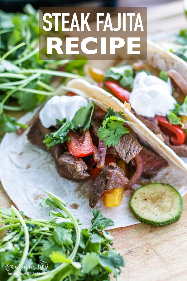 This truly is the best steak fajita recipe! These steak fajitas are easy to make and packed with delicious flavor in every bite! #longbournfarm #steak #fajita #steakfajita #beeffajita #chickenfajita #veggiefajita #veggies #fajitaseasoning #mexicanfood #texmex #steakfajitarecipe #beeffajitarecipe