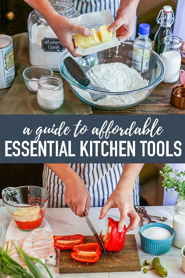 A no-fuss list of affordable and quality kitchen essentials for your home! Everything on this kitchen equipment list are items I use and my personal favorites. #longbournfarm #kitchentools #kitchenessentials #kitcheneequipment #kitchenessentialslist #cookingessentails #cookingtools #bakingessentials #bakingtools