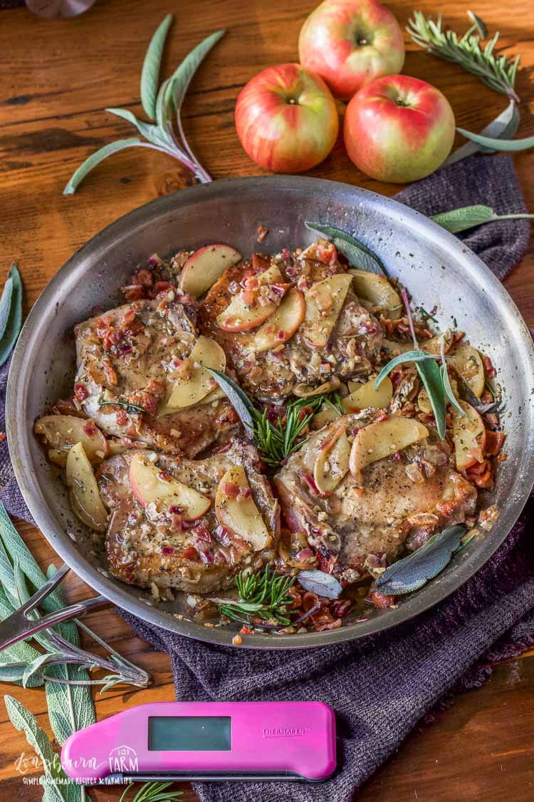 Bacon Apple Pork Chops