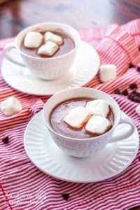 The best homemade hot chocolate recipe is fast, simple, and decadent. This is the perfect drink to take the chill off of a cold day! #hotchocolate #hotchocolaterecipe #homemadehotchocolate #homemadehotchocolateeasy #homemadehotchocolaterecipe