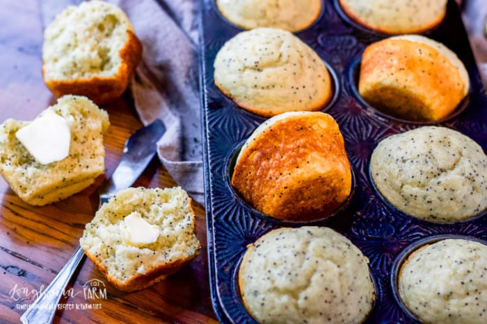 Almond poppy seed muffins are light, fluffy, and a perfect combination of flavor! Make a double batch and freeze some for a quick breakfast on-the-go. #poppyseedmuffins #almondpoppyseedmuffins #almondpoppyseedmuffin #almondpoppyseedmuffinrecipe #poppyseedmuffinrecipe #poppyseedmuffineasy