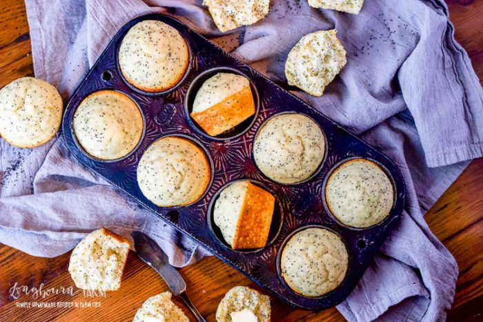 Almond poppy seed muffins are light, fluffy, and a perfect combination of flavor! Make a double batch and freeze some for a quick breakfast on-the-go.#poppyseedmuffins #almondpoppyseedmuffins #almondpoppyseedmuffin #almondpoppyseedmuffinrecipe #poppyseedmuffinrecipe #poppyseedmuffineasy