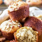 This banana nut muffin recipe is light and flavorful. It's easy to make and so delicious! Make a double batch and freeze some for later. #banananutmuffins #banananutmuffinseasy #banananutmuffinrecipe #banananutmuffinsbest #banananutmuffinmoist #banananutmuffinspecans