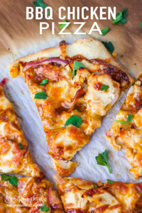 BBQ chicken pizza is easy to make and a delicious way to switch up traditional pizza. Use homemade pizza dough that you can freeze to make it a quick meal! #bbqchicken #bbqchickenpizza #bbqchickenpizzarecipe #bbqchickenpizza easy #bbqchickenpizzahomemade