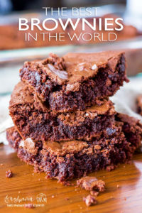 Get the best brownie recipe from scratch! Chewy in the middle, crinkly tops, and perfect chocolatey flavor. Easy homemade brownies that hit every mark! #homemadebrownies #homemadebrownieseasy #homemadebrowniesrecipe #homemadebrowniesfromscratch #browniesfromscratch #browniesfromscratcheasy #browniesfromscratchhomemade #browniesfromscratchchewy #browniesfromscratchwithcocoa #browniesfromscratchfudgey