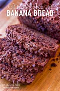 Chocolate banana bread takes regular banana bread to a whole new level! Rich and chocolatey with a good balance of banana flavor.#bananabread #chocolatebread #chocolatebananabread #chocolatebananabreadrecipe #chocolatebananabreadeasy #chocolatebananamuffins #chocolatebananabreadmoist