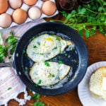 Learning how to make over easy eggs is easy! Learn the simple steps you need for perfectly cooked yolks that don't break. #eggs #eggrecipes #overeasyeggs #howtocookovereasyeggs #overeasyeggrecipes #sunnysideupeggs #sunnysideupegg #breakfastrecipes #eggsforbreakfast