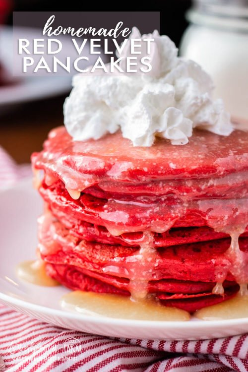 Making red velvet pancakes from scratch is so easy an such afestive breakfast for holidays! Surprise the family with this delicious, fun breakfast.#redvelvet #redvelvetpancake #redvelvetpancakes #redvelvetpancakerecipe #redvelvetpancakerecipeeasy #redvelvetpancakeeasy #redvelvetpancakeicing #redvelvetpancakeseasy #redvelvetpancakesrecipe #pancakes #pancakerecipe #pancakerecipeeasy #valentinesrecipe #christmasrecipe