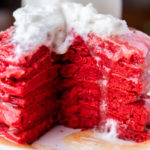 Making red velvet pancakes from scratch is so easy an such a festive breakfast for holidays! Surprise the family with this delicious, fun breakfast. #redvelvet #redvelvetpancake #redvelvetpancakes #redvelvetpancakerecipe #redvelvetpancakerecipeeasy #redvelvetpancakeeasy #redvelvetpancakeicing #redvelvetpancakeseasy #redvelvetpancakesrecipe #pancakes #pancakerecipe #pancakerecipeeasy #valentinesrecipe #christmasrecipe