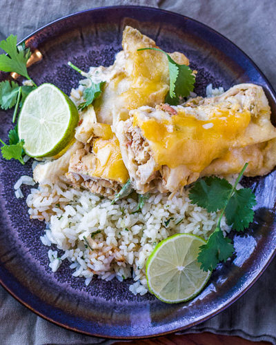 Slow Cooker Chicken Enchiladas {Honey Lime}
