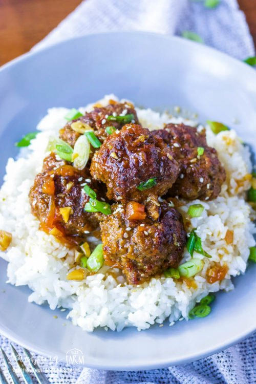 Teriyaki meatballs are a flavor-packed crockpot meatball recipe that the whole family will love. Homemade or frozen meatballs, this is one easy dinner! #teriyakimeatballs #teriyakimeatballscrockpot #teriyakimeatballseasy #teriyakimeatballsrecipe #teriyakimeatballsslowcooker #teriyakimeatballspineapple #teriyakimeatballsfrozen #teriyakimeatballsbeef