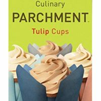PaperChef Culinary Parchment 12 Tulip Baking Cups, Multi-Colored