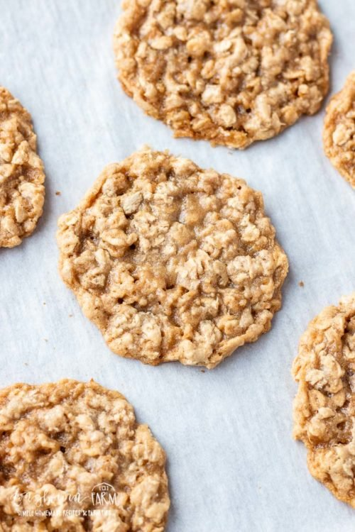 Chewy oatmeal cookies are simple to make with the perfect balance of oats. Crispy on the outside while chewy and soft on the inside. So good! #chewyoatmealcookies #easyoatmealcookies #oatmealcookies #oatmealcookiesrecipe #easyoatmealcookierecipes #oatmealcookierecipes #oatmealcookie
