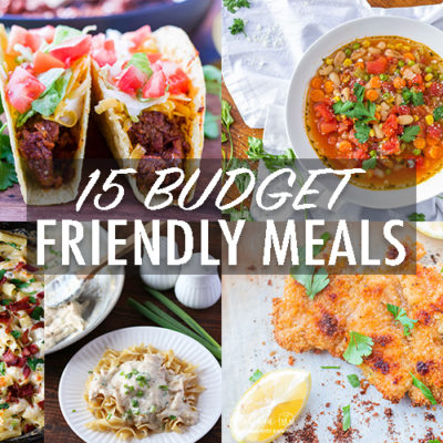Making good food doesn't have to be expensive! Check out these 15 budget-friendly meals that the whole family is guaranteed to love. #budgetfriendlymeals #familymeals #budgetmeals #budgetfriendlymealsfamilies #budgetmealsfortwo #budgetmealsforfour #budgetmealshealthy