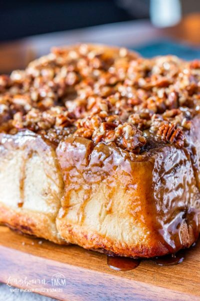 This sticky buns recipe simplifies the process while still giving you delicious results! Flaky and soft dough paired with a perfect gooey pecan topping.#stickybuns #stickybunsrecipe #stickybunrecipe #easystickybuns #cinnamonrolls #pecanstickybuns #stickybunsfromscratch #stickybunsgooey