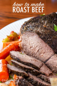 Learning how to make roast beef is easy and makes a delicious meal for any day of the week. Make it in the slow cooker for a hands-free dinner! #roastbeef #roastbeefcrockpotrecipe #roastbeefrecipe #roastbeefcrockpot #roastbeefdinner #howtomakeroastbeef #bestroastbeef #easyroastbeef #roastbeefslowcooker #roastbeefslowcooked