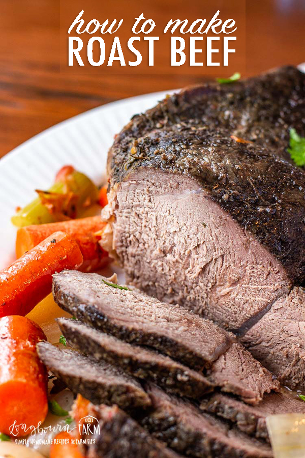Learning how to make roast beef is easy and makes a delicious meal for any day of the week. Make it in the slow cooker or oven for a hands-free dinner! #roastbeef #roastbeefcrockpotrecipe #roastbeefrecipe #roastbeefcrockpot #roastbeefdinner #howtomakeroastbeef #bestroastbeef #easyroastbeef #roastbeefslowcooker #roastbeefslowcooked via @longbournfarm