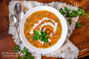 Lentil soup is hearty and delicious. Make it quickly in an instant pot or pressure cooker or use a slow cooker. Either way, it turns out amazing! #lentilsoup #lentilsoupeasy #lentilsoupcrockpot #lentilsoupslowcooker #lentilsoupinstantpot #lentilsouphealthy #lentilsoupred #lentilsoupvegetarian #lentilsoupvegetables #lentilsoupbest
