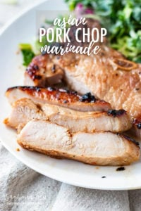 Asian marinated pork chops are a great way to serve a flavorful dinner with only a little effort. Paired well with rice and veggies, you could have a healthy and filling dinner with very little hands-on time! With this Asian marinade being so easy to make, you don't need to be a professional chef to pull this dish off. #porkchops #asianfood #asianporkchops ##asianporkchoprecipe #asianporkchopmarinade #asianporkchopgrill #asianporkchopbaked