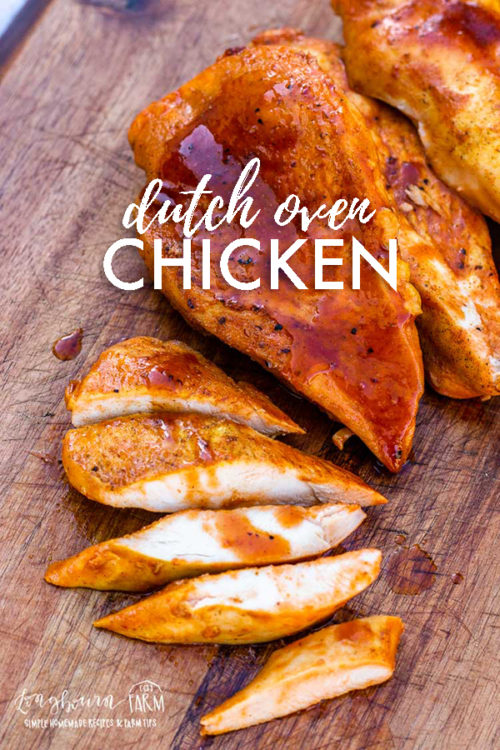 Are you looking for a simple barbecue chicken recipe that gives you an excuse to cook outdoors? Check out this super easy dutch oven chicken recipe! #dutchoven #dutchovencooking #castiron #castironcooking #dutchovenchicken #dutchovenchickenbbq #dutchovenchickenrecipe