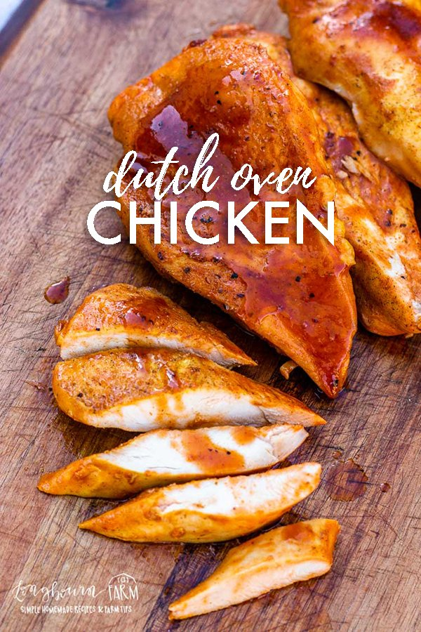 Are you looking for a simple barbecue chicken recipe that gives you an excuse to cook outdoors? Check out this super easy dutch oven chicken recipe! #dutchoven #dutchovencooking #castiron #castironcooking #dutchovenchicken #dutchovenchickenbbq #dutchovenchickenrecipe via @longbournfarm