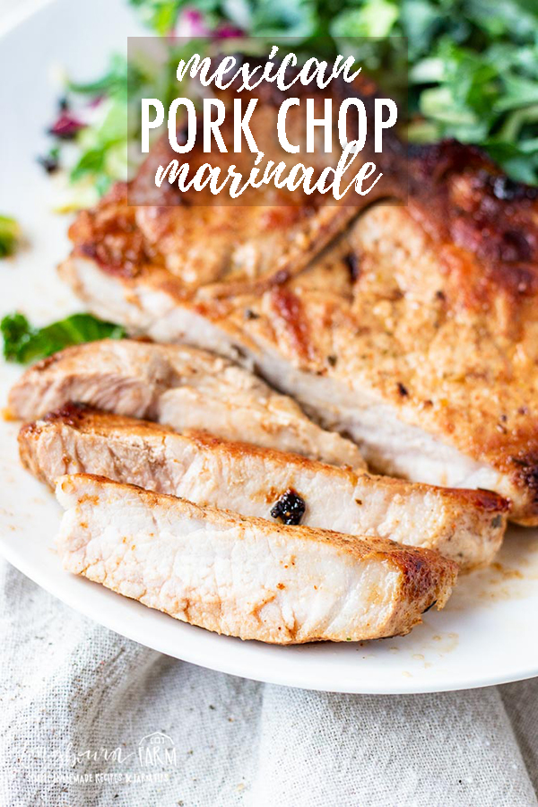 Are you looking for an easy, yet mouthwatering Mexican pork chop recipe that is full of flavor? Check out this recipe and see what you've been missing! #porkchops #mexicanpork #mexicanporkchops #mexicanporkmarinade #porkchopmarinade #marinaderecipe #mexicanmarinade #mexicanmarinaderecipe via @longbournfarm