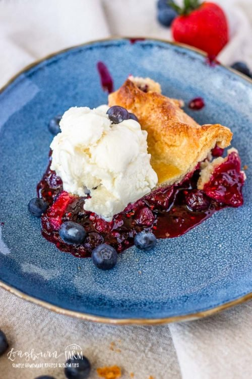 Homemade berry pie is a classic all year round no matter the occasion. It's a perfect balance of sweet and tart and packed with berry flavor!