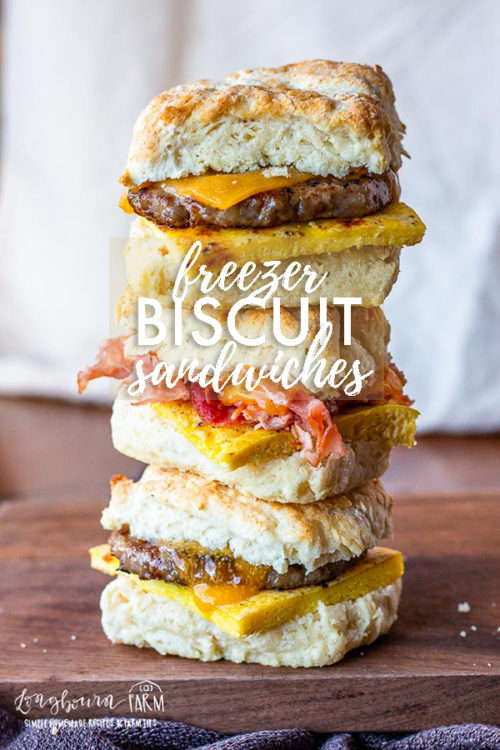 Biscuit breakfast sandwiches are so easy to make and prepare for the freezer! Make a bunch in advance to have an easy breakfast on the go. #biscuitbreakfastsandwich #biscuitbreakfastsandwichrecipe #biscuitbreakfastsandwichhoneyham #biscuitbreakfastsandwichfreezer #biscuitbreakfastsandwichbaconegg #biscuitbreakfastsandwiches