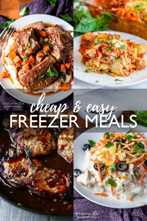 When it comes to meal planning, easy freezer meals are a lifesaver and so nice to have on hand. Great for busy days and days you're just exhausted! #easyfreezermeals #cheapfreezermeals #freezermeal #freezermealmakeahead #freezermealcrockpot #freezermealsslowcooker #freezermealsfornewmom