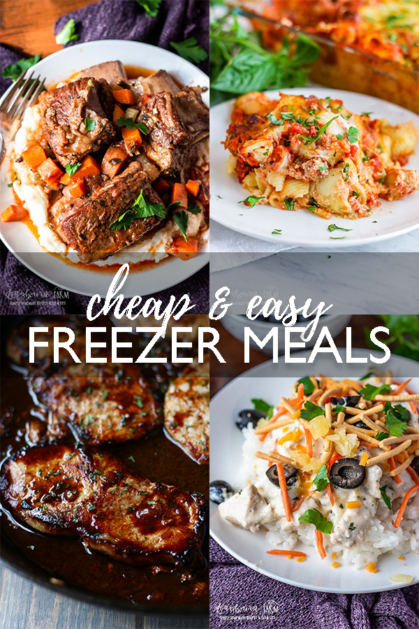When it comes to meal planning, easy freezer meals are a lifesaver and so nice to have on hand. Great for busy days and days you're just exhausted! #easyfreezermeals #cheapfreezermeals #freezermeal #freezermealmakeahead #freezermealcrockpot #freezermealsslowcooker #freezermealsfornewmom via @longbournfarm