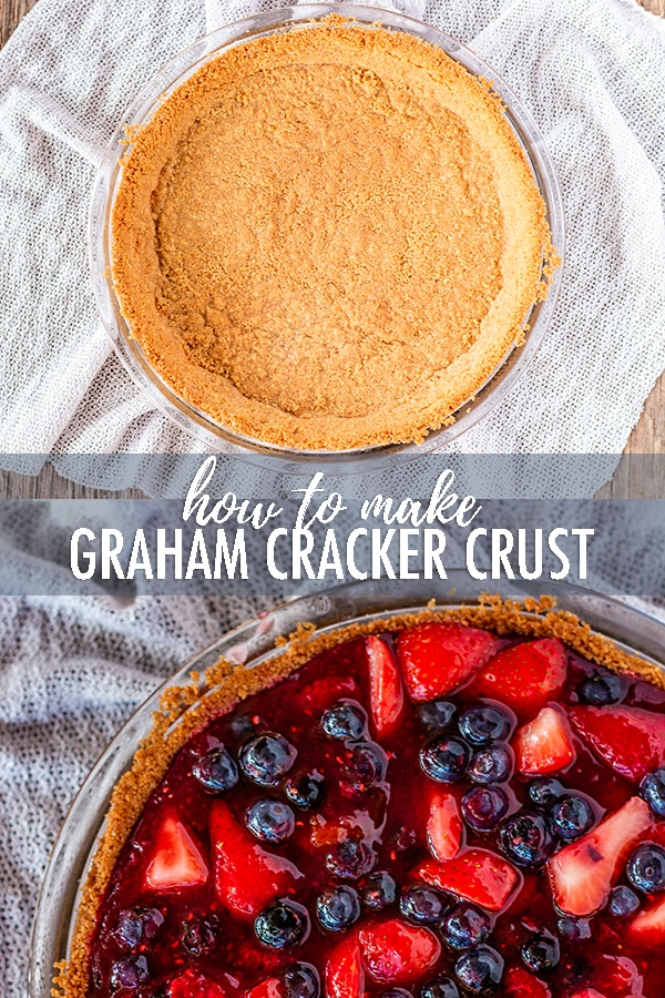 Making a homemade graham cracker crust is so easy! 15 minutes to delicious homemade crust ready for your favorite pie filling. #grahamcrackercrust #grahamcrackercrustrecipe #grahamcrackercrusteasy #grahamcrackercrustnobake #bakedgrahamcrackercrust via @longbournfarm