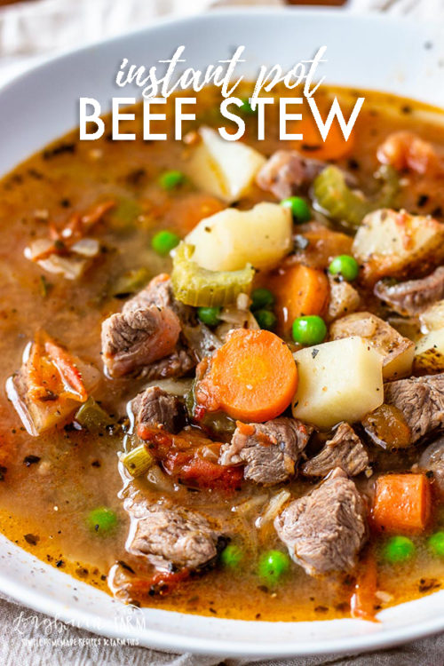 Making beef stew in the pressure cooker is so quick and easy. It makes an ultra tender and flavorful stew in minutes instead of hours! #beef #beefitswhatsfordinner #beefstew #pressurecooker #instantpot #pressurecookerbeef #pressurecookerbeefstew #instantpotbeefstew #instantpotbeef