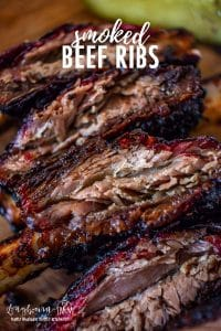 #Sponsored Smoked Beef Ribs are a simple recipe that is easy to get right the first time! Fall off the bone delicious with a flavor-packed bark that is to die for! @BeefForDinner #BeefItsWhatsForDinner #NicelyDone #BeefFarmersandRanchers #smokedbeef #smokedribs #traegerribs #smokedbeefribs #smokedbeefribstraeger #beefrecipe #beefribs #beefitswhatsfordinner #howtosmokeribs #pelletsmoker #electricsmoker