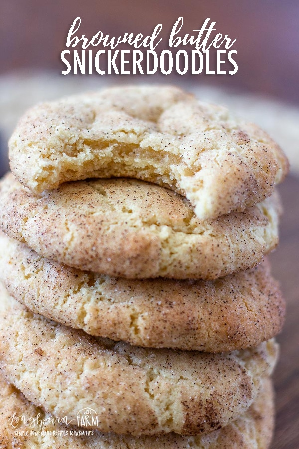 Browned Butter Snickerdoodles are an incredible twist on an old classic. A nutty, buttery, flavor combined with cinnamon and sugar make these amazing! #snickerdoodles #snickerdoodlerecipe #classicsnickerdoodles #chewysnickerdoodles #snickerdoodlecookies #softsnickerdoodles #easysnickerdoodles #bestsnickerdoodles #brownedbutter #brownedbuttersnickerdoodles #brownedbuttercookies