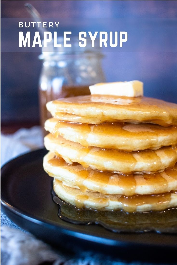 There's nothing better than a stack of buttery and fluffy pancakes, but this homemade butter maple syrup takes it to a whole new level of taste!