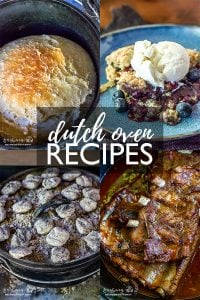 Dutch oven recipes are simple if they include detailed instructions. Check out this list of amazing recipes as well as helpful how-to tips for dutch ovens! #dutchovencooking #castironcooking #dutchovenrecipes #castironrecipes #dutchovencobbler #dutchovenchicken #dutchovenribs #dutchovenpeachcobbler #dutchovenbread #nokneadbread