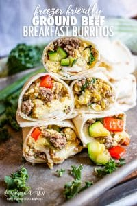 #sponsored Do you need easy, quick, filling, and nutritious breakfast ideas for back to school?? These Ground Beef Breakfast Burritos fit the bill!! Make them ahead and freeze them for quick and homemade grab-and-go meals. Ground Beef Breakfast Burritos are easy to customize and pair well with almost any veggie combination! @beefitswhatsfordinner #BeefItsWhatsForDinner #NicelyDone #BeefFarmersandRanchers #breakfast #breakfastburritos #breakfastburritoseasy #breakfastburritosrecipe