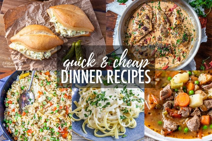 Quick and Cheap Dinners are a must-have for any family during the busy school year! These dinners are ones the whole family will love them! #quickdinner #easymeals #cheaprecipes #cheapdinners #cheapmeals #quickrecipes #easyrecipes #easydinners #budgetrecipes #budgetmeals #budgetdinners