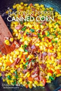 Take canned corn to a new level with this easy and flavorful canned corn recipe! This recipe makes getting your veggies in tasty! #cannedcornrecipe #cannedcornwithpeppers #cannedcorn #veggierecipe #corn #cornrecipe #easycornrecipe #easycannedcornrecipe #flavorfulcannedcorn #bestcannedcorn