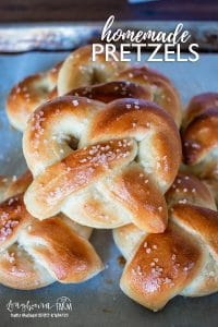 Homemade pretzels are easy to make, soft, buttery, and delicious! With no boil step, these won't take you all day to make! #pretzels #pretzelrecipe #homemadepretzels #homemadepretzel #pretzelrecipeeasy #pretzelrecipesoft #pretzelhomemade