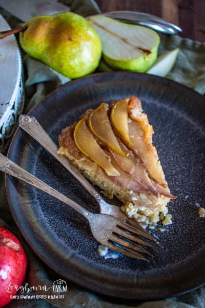 Upside-Down Pear Cake Recipe