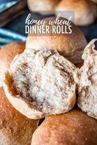 Honey wheat rolls are easy to make and so delicious! Soft, slightly sweet, and deliciously pillowy.Whip up a batch and freeze some for later! #honeywheatrolls #easywheatrolls #wheatrollrecipe #honeywheatrollrecipe #wholewheat #rolls #rolldough #wheatbread #wheatbreadrecipe #wheatbreadeasy