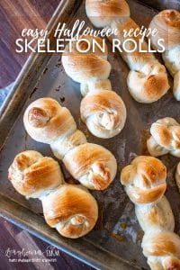 Skeleton rolls are a super easy Halloween recipe that isn't a treat! Serve it with soup, pasta, as an appetizer or anything in between! #halloweenrecipe #easyhalloweenrecipe #halloweenrecipeideas #halloweenrecipeparies #halloweenrecipekids #halloweenrecipefood #halloweenrecipepotluck #halloweenrecipehealthy #halloweenrecipesavory #halloweenrecipesnacks #halloweenrecipefun