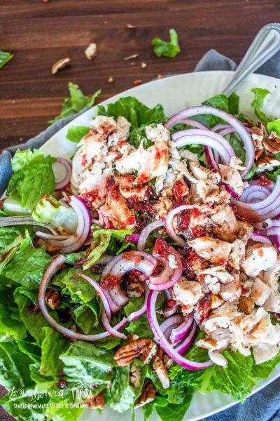 Turkey Salad + Raspberry Vinaigrette