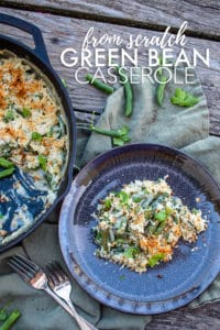 Homemade green bean casserole is an amazing take on the classic recipe! Packed with flavor but easy to make with minimal dishes. #greenbeancasserole #greenbeancasserolehomemade #greenbeancasserolefromscratch #greenbeancasseroleeasy #greenbeancasserolebest #greenbeancasseroleclassic #greenbeancasserolethanksgiving