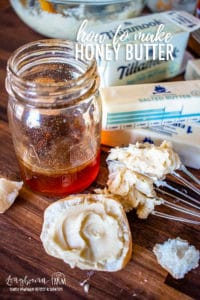 Learning how to make honey butter is super easy and so quick! Keep a stash in your fridge at all times so you can have it whenever you feel like it! #honeybutter #honey #butter #butterrecipe #whippedhoneybutter #homemadehoneybutter #howtomakehoneybutter #easyhoneybutter