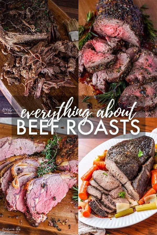 Wondering how to cook roast beef? Learn about different cuts, cooking times, and get amazing recipes and more in this comprehensive article. #roast #beef #roastbeef #tenderloin #primerib #chuckroast #brisket #slowroastedbrisket #brisketrecipe #beeftenderloin #roastedbeef #primeribrecipe via @longbournfarm