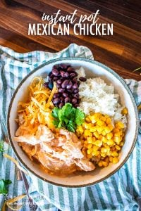 Instant pot Mexican chicken and rice is an easy one-pot meal that the whole family will love! Ready in minutes, this is a super quick dinner. #mexicanchicken #instantpot #instantpotmexicanchicken #mexicanchickenrecipe #instantpotchicken