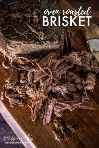 Cooking oven roasted brisket is easier than you think! Pack it with flavor and cook it low and slow for fall-apart meat that's perfect every time. #brisket #beef #beeffordinner #beefbrisket #brisketrecipe #ovenroastedbrisket #ovenbrisket #slowcookerbrisket