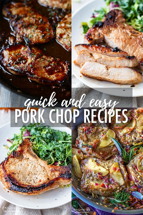 Pork chops are affordable and easy to prepare! Check out these quick and easy pork chop recipes your whole family will love. #porkchops #porkchoprecipes #quickporkchoprecipes #easyporkchops #easyporkchoprecipes via @longbournfarm
